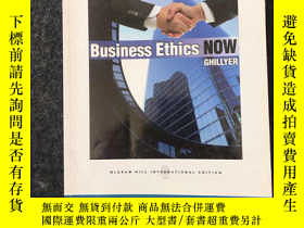 二手書博民逛書店Business罕見Ethics NOW:GHILLYER (現