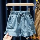 女童兒童童裝寶寶闊腿牛仔短褲熱褲花邊裙褲子【淘嘟嘟】