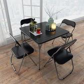 簡易折疊桌麻將桌休閒棋牌桌飯桌便攜桌子餐桌方桌多功能桌子igo 寶貝計畫