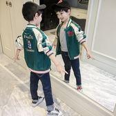 外套 男童外套秋裝寶寶兒童春秋款棒球服6夾克7洋氣8上衣9歲潮【小天使】