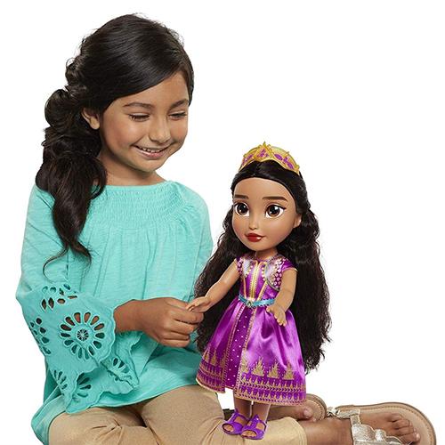 《 Disney 迪士尼 》迪士尼公主 阿拉丁 - 茉莉娃娃(粉)╭★ JOYBUS玩具百貨