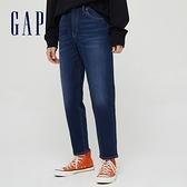 Gap男裝 時尚中腰寬鬆牛仔褲 685649-深色水洗