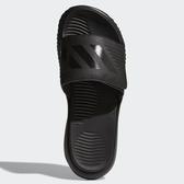ADIDAS ALPHABOUNCE BASKETBALL SLIDES 男鞋 拖鞋 休閒 魔鬼氈 柔軟 黑【運動世界】B41720
