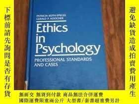 二手書博民逛書店Ethics罕見in Psychology: Professional Standards and Cases