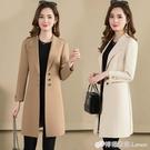 春秋女風衣外套新款潮中長款修身顯瘦薄款流行外衣卡其色大衣 檸檬衣舎