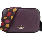 【南紡購物中心】COACH JES 20素面牛皮寬背帶雙層相機包(迷你/葡萄紫)