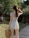 白色仙女范泳衣女