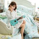 床包兩用被組 / 雙人【麻吉貓野餐派對-兩色可選】含兩件枕套  100%精梳棉  戀家小舖台灣製AAL215