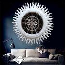 【衫衫來時】麗盛歐式複古鐘錶太陽裝飾掛鐘掛錶藝術掛鐘B8110NY白色