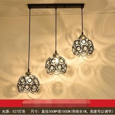 2312黑色直盤款北歐餐廳吊燈創意個性餐廳燈飯廳燈現代鐵藝