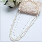 [L001-S]金屬鍊搭配仿珍珠長項鍊~...