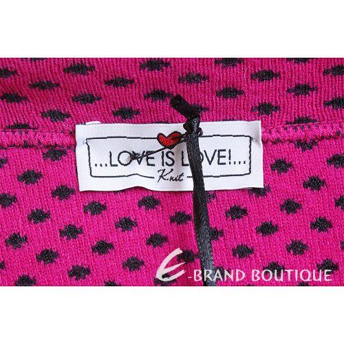 Love Sex Money-LOVE IS LOVE 黑色圓點毛衣外套(桃紅色) 1220591-11