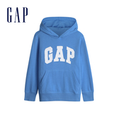 Gap男童棉質毛圈布內裡套頭連帽衫554446-航太藍
