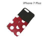 【日本正版迪士尼】 iPhone6/6s/7 Plus 皮革口袋系列 手機殼 插卡 5.5吋-米妮446