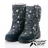 【PolarStar】女雪花保暖雪鞋『深藍』P18632 (冰爪 / 內厚鋪毛 /防滑鞋底) 雪靴.雪鞋.賞雪.滑雪
