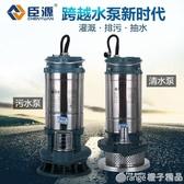 臣源潛水泵220V家用小型不銹鋼抽水機高揚程農用灌溉抽水排污水泵  (橙子精品)