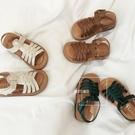 女童涼鞋 2020夏季新款童鞋女韓版軟底編織露趾防滑涼鞋公主鞋【快速出貨】