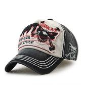 塗鴉 貼布 骷髏頭 牛仔 運動 遮陽 防曬 鴨舌帽 棒球帽
