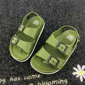 聖誕交換禮物-涼鞋 男童鞋英倫1-4歲寶寶童涼鞋兒童防滑涼鞋2018小童塑料沙灘鞋