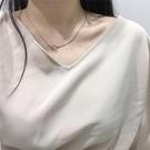鎖骨錬 韓國氣質項錬女鎖骨錬打結極簡約個...