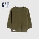 Gap男幼童 簡約風格仿羊羔絨休閒上衣 656949-綠色