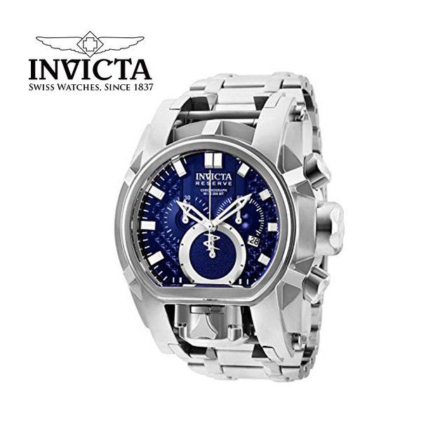 【INVICTA】層峰繩索系列 獨眼龍腕錶 52mm - 藍銀色