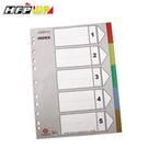 【HFPWP】 5段塑膠五色分段紙 環保材質台灣製 IX901