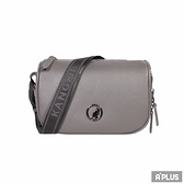 KANGOL 包 BAG 英國袋鼠 灰色 荔枝 皮拉鍊 隨身包 側背包 - 6055301310