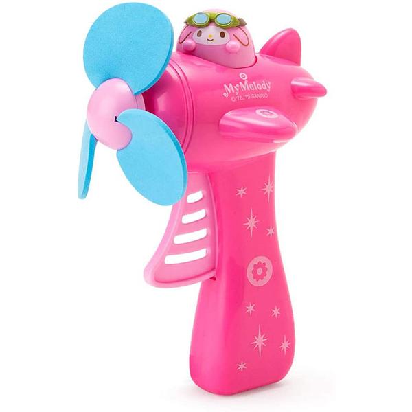 促銷優惠 Sanrio 飛機造型按壓式手動風扇 美樂蒂 飛行員 粉