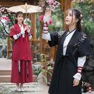 兩件套漢服原創名族風傳統漢服情侶古禮服繡花交領襦裙表演班服 週年慶降價