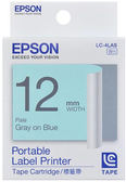 [哈GAME族]免運費 可刷卡 EPSON LC-4LAS 標籤機色帶 標籤帶 藍底灰字 12mm