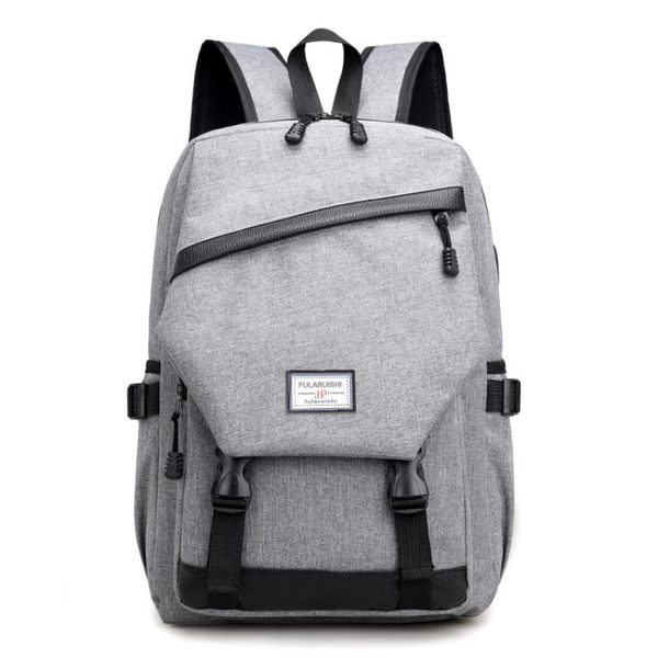 後背包 防水書包 USB充電男包 大容量帆布雙肩包【非凡上品】x1450