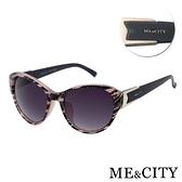 【南紡購物中心】【SUNS】ME&CITY 時尚簡約 豹紋紋路太陽眼鏡 義大利設計款 抗UV400 (1212 D03)
