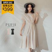 PUFII-洋裝 胸壓摺側開衩洋裝-0613 現+預 夏【CP16878】