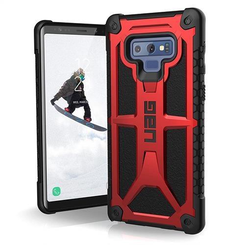 【美國代購-現貨】UAG三星Galaxy Note 9 Monarch Feather-Light 軍用摔落測試手機殼 紅黑