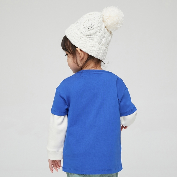 Gap男幼童 Gap x Ken Lo 藝術家聯名系列純棉短袖T恤 854744-藍色