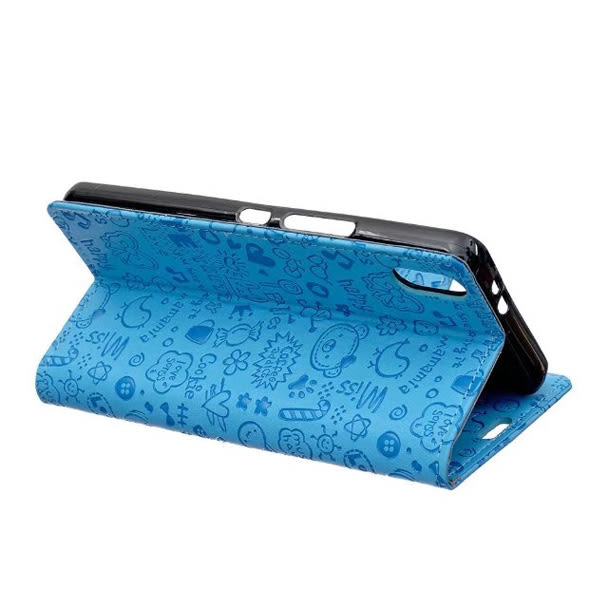 HTC U Ultra 手機皮套 皮套 內軟殼 全包 支架 插卡 磁扣 手機套 手機殼 小魔女壓花 AA