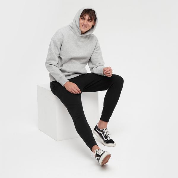 Gap男裝 Logo簡約風格鬆緊針織褲 618882-黑色