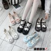 娃娃鞋女日繫厚底洛麗塔女鞋可愛圓頭小皮鞋平底軟妹少女鞋 運動部落