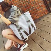 托特包  托特包女學生手提包校園布袋包韓版簡約大容量單肩包女大包包  蒂小屋服飾