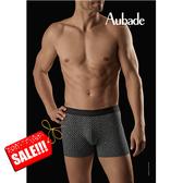 Aubade man-舒棉M-XL平口褲(長方圖形)