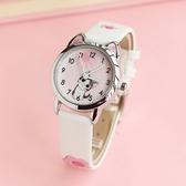 兒童手錶  -日本溫暖小萌貓清新起司私房貓防水防刮卡通學生兒童女孩手錶 交換禮物