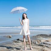 短袖洋裝 小白裙中長款女修身正韓收腰顯瘦禮服