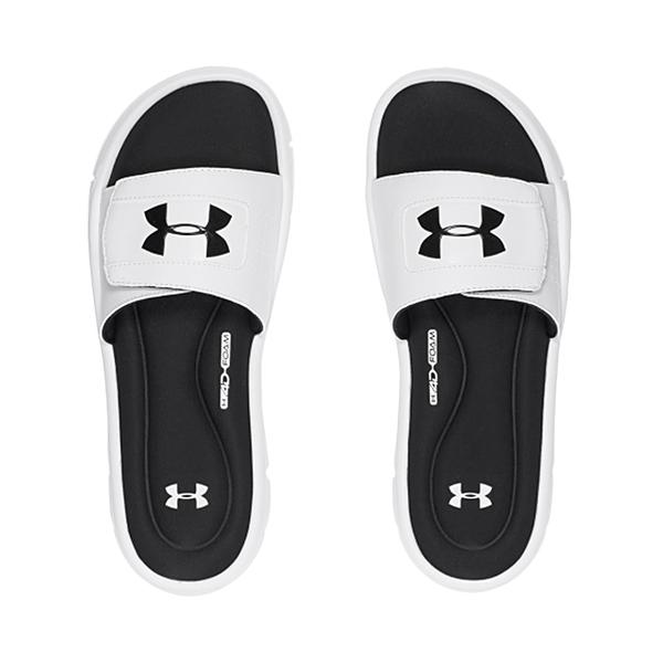 UA 19SS 運動拖鞋 一字拖鞋 白 男拖鞋 Ignite V Slides系列 1287318-100 白【樂買網】