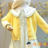 女童休閒套裝秋冬連身裙兒童針織毛衣開衫兩件套裙【淘嘟嘟】