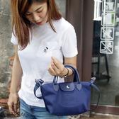 Catsbag| 韓超輕量防潑水二用水餃包小款側背包斜背包手提包|15048
