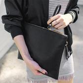手拿包手拿包女新品個性時尚手抓包簡約信封包潮女款手包斜背包【限時八折】