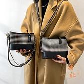 時尚水桶包小包包女鏈條包質感單肩斜挎包【橘社小鎮】