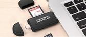 店長推薦 電腦安卓手機兩用type-c多功能合一OTG讀卡器迷你TF相機SD卡車載