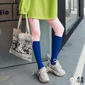 2雙雙|小腿襪女高筒襪子女中筒襪純棉秋冬長筒襪糖果彩色【君來佳選】